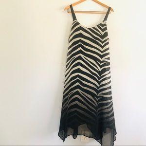 Sheer Lane Bryant Zebra Print Dress